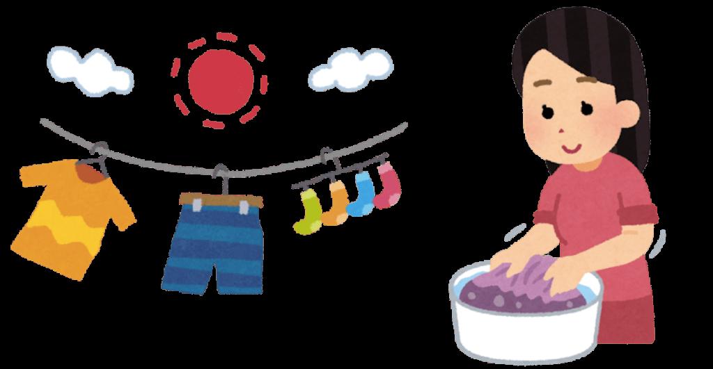 衣服についたカメムシの臭いを取る方法の図