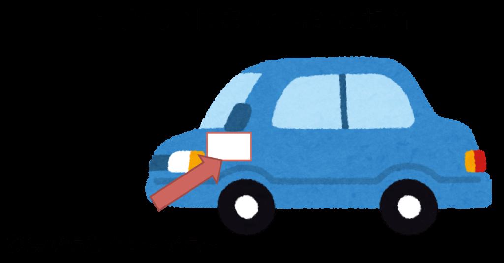車についた鳥のフンの落とし方(乾燥している場合)