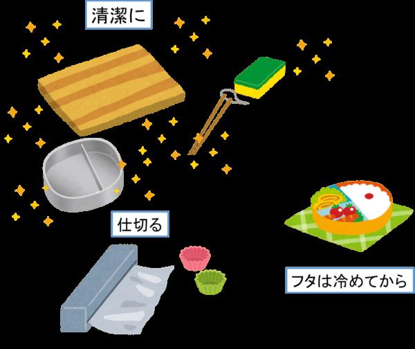 お弁当を前日に作る場合の注意点