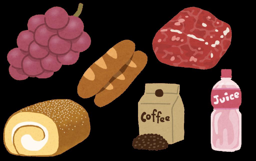 コストコの食品のイラスト