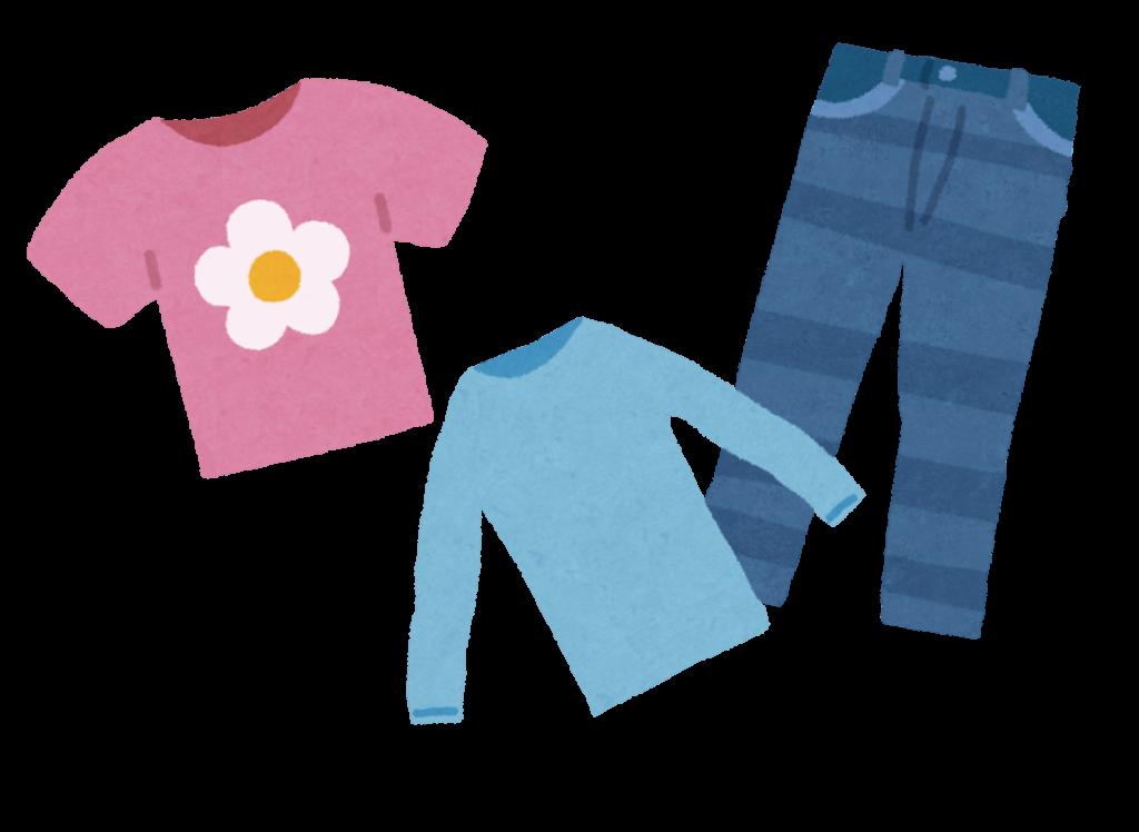 コストコの衣料品のイラスト