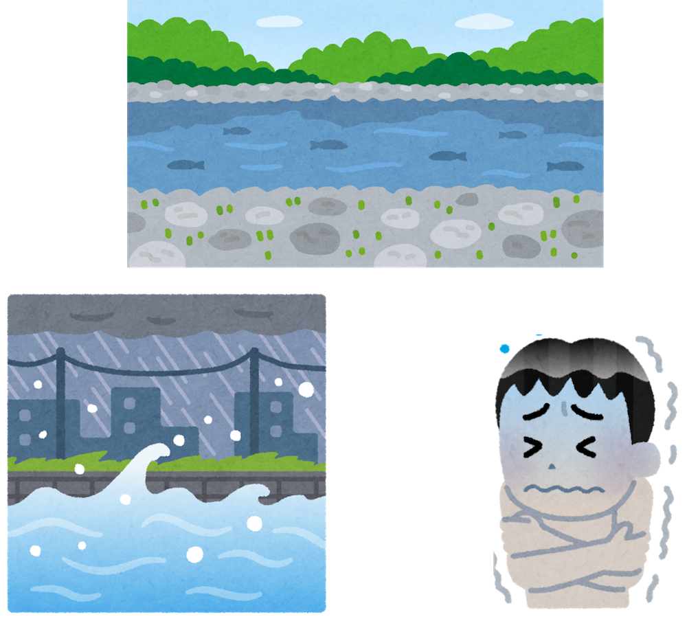 お盆の川遊び
