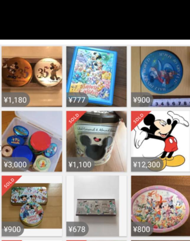 ディズニーのお菓子缶の買取相場 メルカリ
