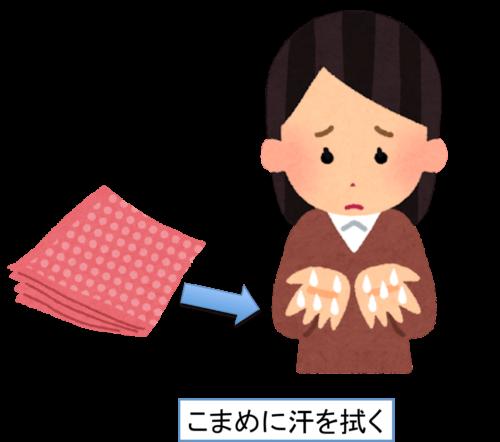 指先に水泡ができた!汗疱の場合の対処法