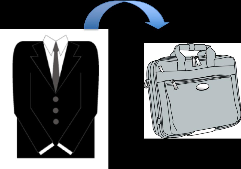 スーツ収納可能な出張用カバン