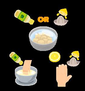 山芋 かゆみ 対策 酢 酸