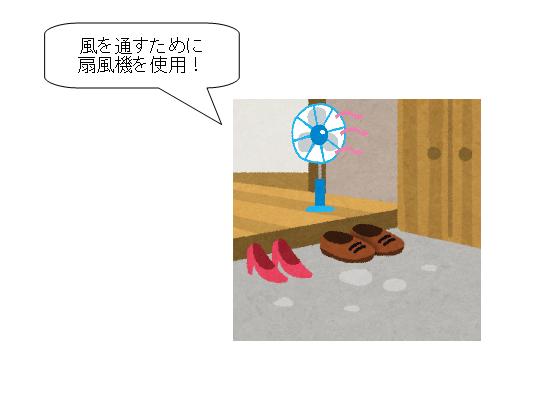 靴 カビ 取り 換気 扇風機