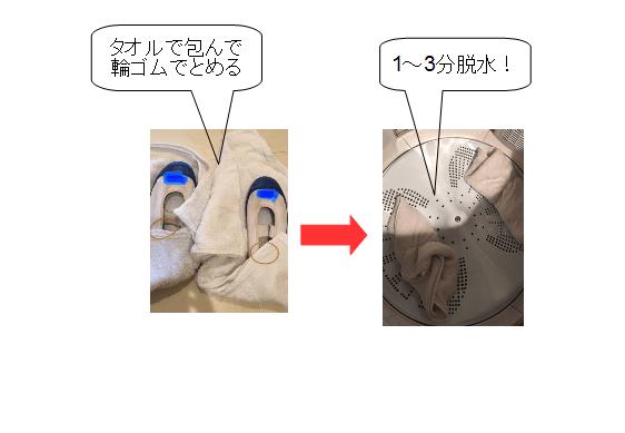 濡れた 靴 乾かす 上靴 脱水