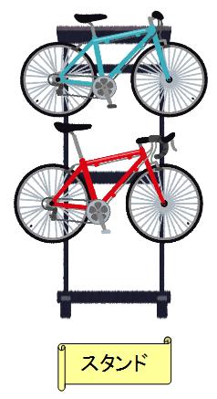 自転車 収納 方法 スタンド 屋内