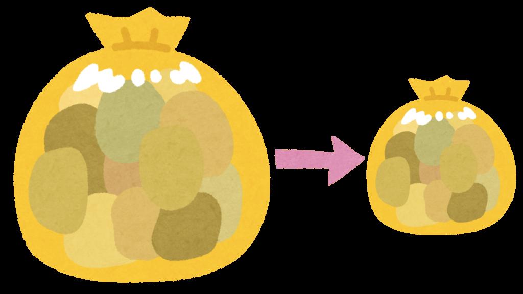 ゴミ置き場のカラス対策のイラスト