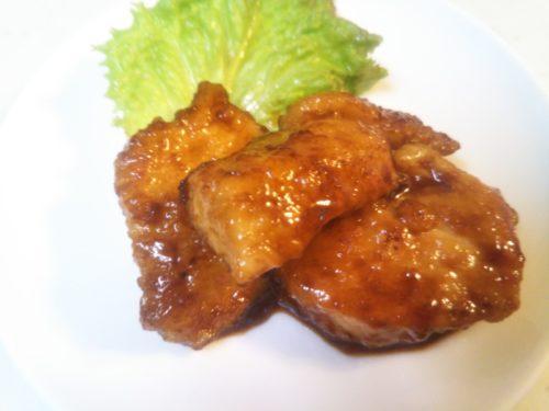 鶏肉のバルサミコソースを代用品で 黒酢+ウスター