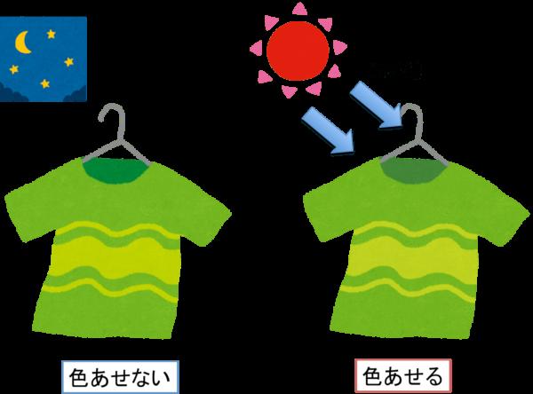 夜洗濯のメリット(外干しの場合)