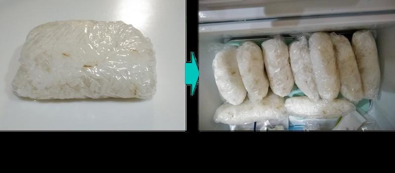 冷凍ご飯が硬くなる